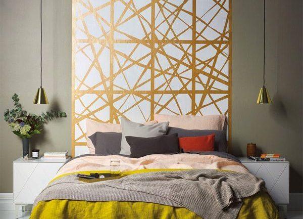 cabeceros cama pared pintado